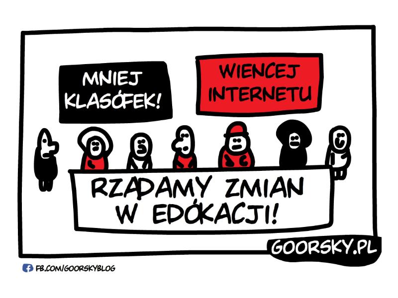 Protest uczniów