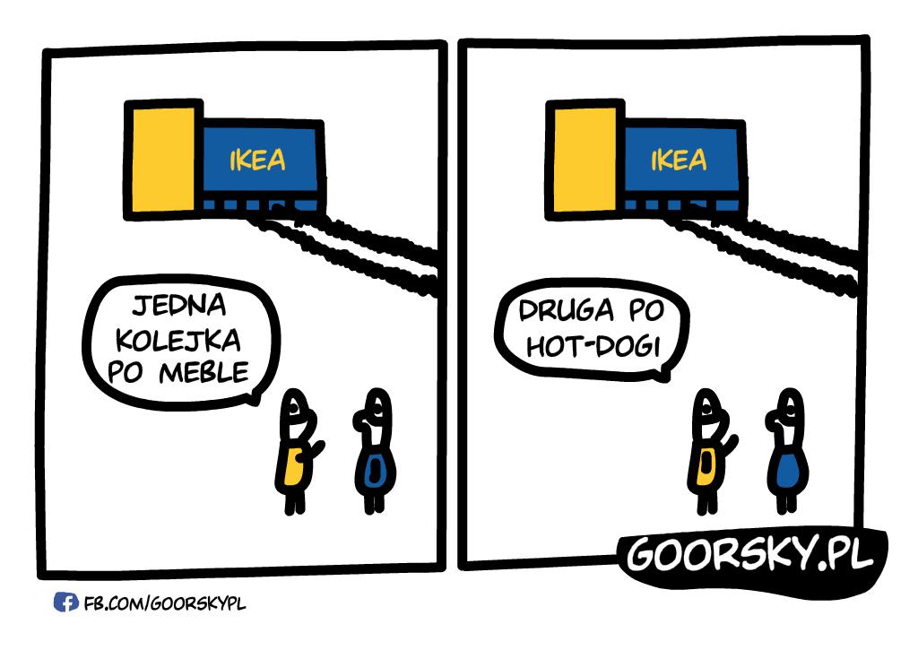Hotdogi w Ikea